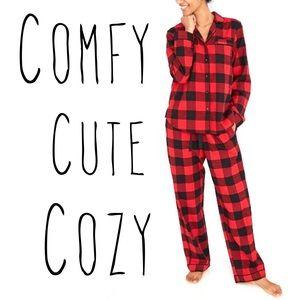 Buffalo Check Flannel Top and Pants Pajama Set